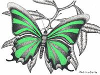 Ribbons #2 - Butterfly In Flight(Green)