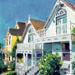 """Victorian Cottages San Diego"" by BeaconArtWorksCorporation"