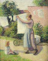 Woman Hanging up the Washing, 1887