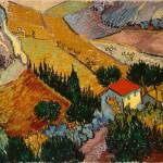 """Landscape with House and Ploughman, 1889"" by fineartmasters"