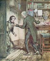 Scrooge and Bob Cratchit, from Dickens A Christmas