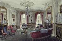 Interior of a drawing room in a town house, 19th c