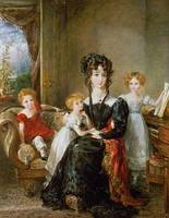 Portrait of Elizabeth Lea and her Children, c.1828