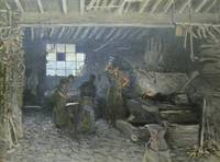 The Forge at Marly le Roi, Yvelines, 1875