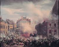 The Burning of the Chateau d'Eau at the Palais-Ro