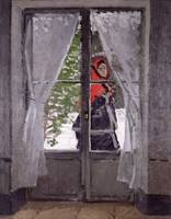 The Red Kerchief, Portrait of Mrs.Monet, 1873