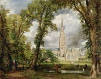 View of Salisbury Cathedral from the Bishop's Gro