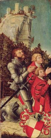 Portrait of a Knight with his two sons, c.1518-25