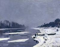 Ice floes on the Seine at Bougival, c.1867 68