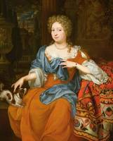 Portrait of a lady in a red dress, 1691