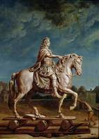 Transporting the Equestrian Statue of Louis XIV fr