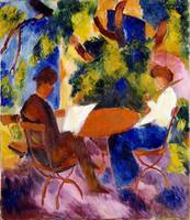 At the Garden Table, 1914