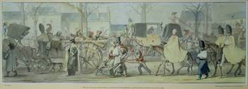 Wounded French Soldiers Entering Paris on the Boul