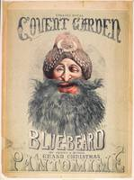 Poster for a Christmas pantomime of 'Blue Beard'