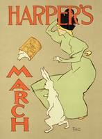 poster advertising 'Harper's Magazine, March edi