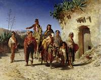A Gypsy Family on the Road, c.1861