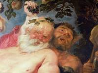 Drunken Silenus Supported by Satyrs, c.1620