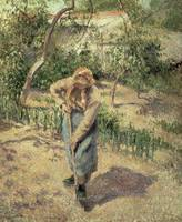 Woman Digging in an Orchard, 1882
