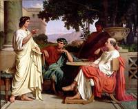 Horace, Virgil and Varius at the house of Maecenas