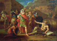 Alexander the Great visits Diogenes at Corinth, 17
