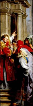 St. Stephen Preaching, from the Triptych of St. St
