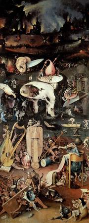 The Garden of Earthly Delights: Hell, right wing o