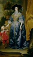 Queen Henrietta Maria and her dwarf Sir Jeffrey Hu