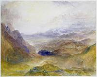 View along an Alpine Valley, possibly the Val d'A