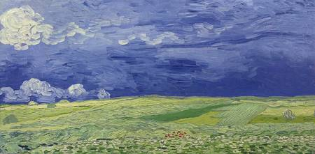Wheatfields under Thunderclouds, 1890