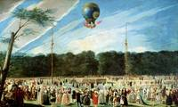 The Ascent of the Montgolfier Balloon at Aranjuez,