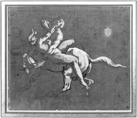 Centaur kidnapping a nymph