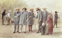 Balzac and Friends at the Ville dAvray in 1840, c.