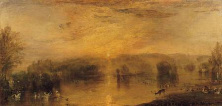 The Lake, Petworth: Sunset, a Stag Drinking, c.182