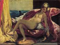 Reclining Odalisque or, Woman with a Parakeet, 182