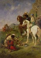A Falcon Hunt in Algeria: The Quarry, before 1863