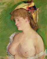 The Blonde with Bare Breasts, 1878