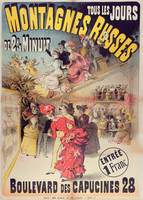 Poster advertising the 'Montagnes Russes' Roller