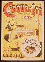 Poster advertising the Cirque d'Ete in the Champs