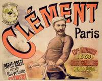 Poster advertising Clement bicycles, 1889