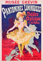 Poster advertising 'Pantomimes Lumineuses, Theatr