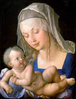 Virgin and child holding a half-eaten pear, 1512