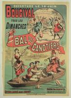 Poster advertising 'Le Bal des Canotiers' at Bou