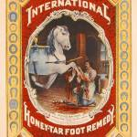 """Poster advertising Honey-Tar foot remedy for horse"" by fineartmasters"