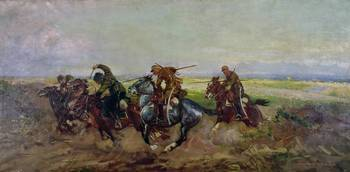 Polish Lancers attacking Russians, 1920