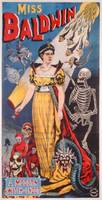 Poster advertising Miss Baldwin, A Modern Witch of