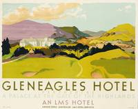 Gleneagles Hotel, poster advertising the LMS, 1924