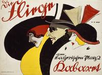 German advertisement for the cabaret 'Die Fliege'