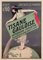 Poster advertising Tisane Gauloise, printed by Cha