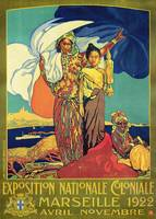 Poster advertising the 'Exposition Nationale Colo
