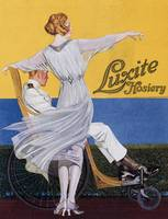 Advertisement for 'Luxite Hosiery', from 'Vogue